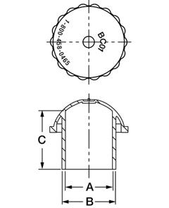 Line Diagram - Cylinder Value Threaded Cap