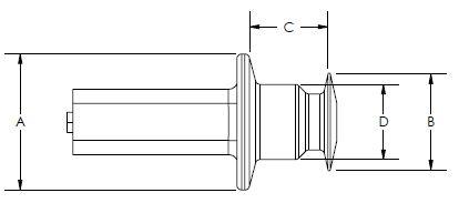 Line Diagram - Blind Weld Nut Plugs