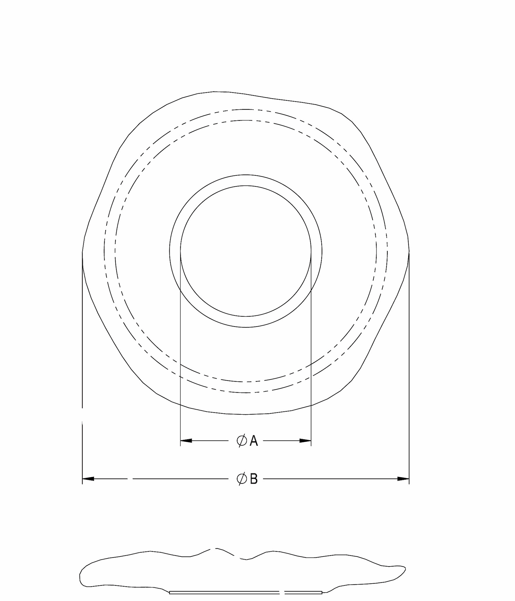 Line Diagram - Clear Stretchable Covers