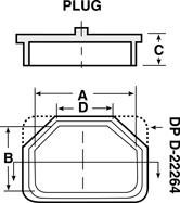 Line Diagram - Conductive Caps / Plugs