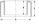 Line Diagram - Bevel -Edge Protectors for Pipe Ends