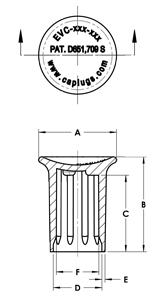 Line Diagram - Ergonomic Vented Caps