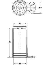 Line Diagram - Flexible Tear-Tab Caps - Flex500™