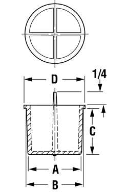 Line Diagram - Plugs for Type K Style Tubing