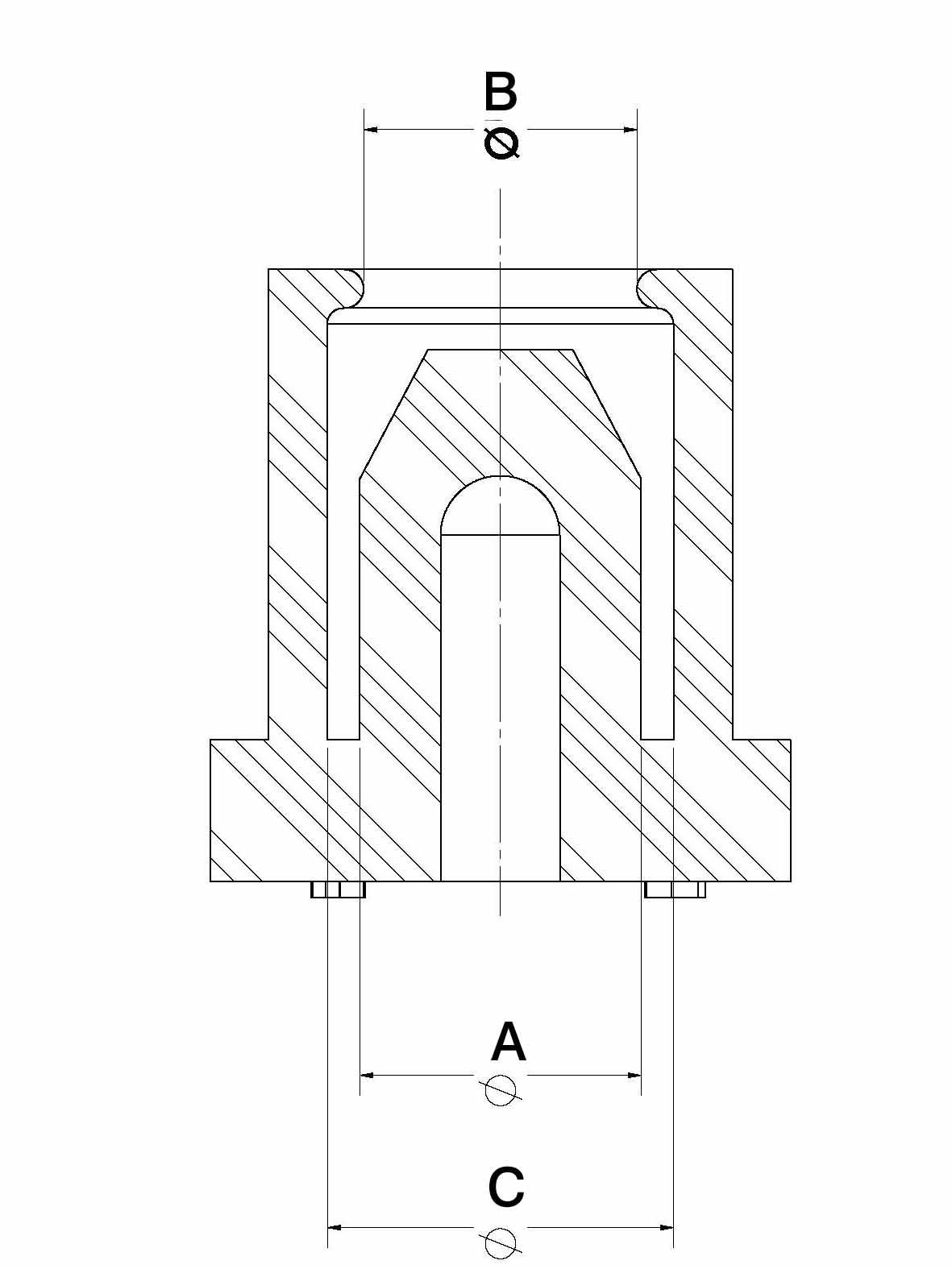 Line Diagram - Resealable Masking Cap/Plug