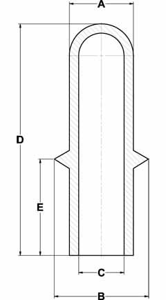 Line Diagram - Ultrabake™ Flanged Cap Plugs