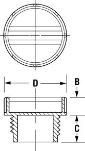 Line Diagram - General-Purpose Plugs for British Standard Pipe Fittings