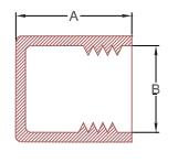 Line Diagram - Threaded plastic caps for BSP fittings