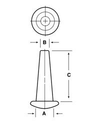 Line Diagram - Tapered Vinyl Plugs