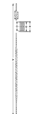 Line Diagram - Universal Use-Evident Cap-Plug Strap
