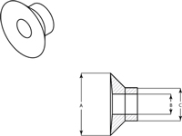Line Diagram - Silocone Washer Masks