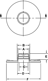 Line Diagram - Tapered Caps & Plugs with Extra-Wide, Extra-Thick Flanges